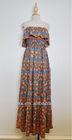 Ladies tube glamorous floral printed long dress