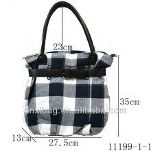 Flower design plaid fashion big bags handbags for women