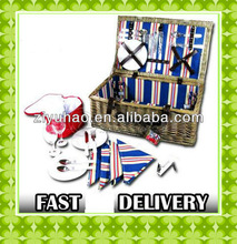 2012 CARNIVAL 4 PERSON PICNIC HAMPER SET / BASKET / COOL BAG / SUMMER / TRAVEL