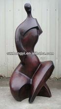 bronze body sculpture/nude figurines outdoor decoration
