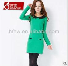 2012 KOREA NEWEST FASHION DOLL COLLAR LONG SLEEVE DRESS