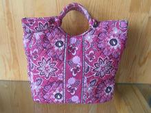quilted cotton bag/tote/handbag sierra red floral color