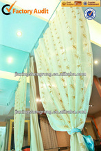 100% polyester window organza curtains fabric
