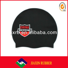Durable elastic silicone swimming cap
