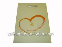 heart-shape printing luxury paper shopping bag