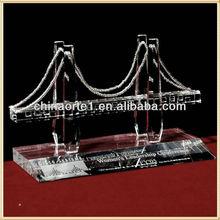 Cristal hechos a mano modelo de puente por decorativo recuerdos