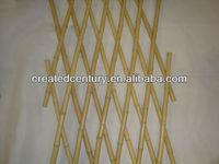 Expanding folding bamboo garden lattice fence