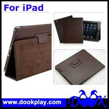 Plain Folio Leather Cover for iPad4 Protective Case for iPad 4