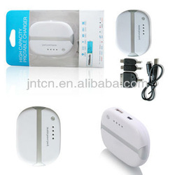 External mobile power MP009-Best travel partner! Oval and Pretty -work for iPhone/Smart Phone/iPad/PSP/Other digital device