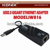 USB2.0 Ethernet Adapter 10Mbps to 100Mbps Connect Ethernet network