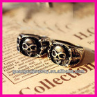 fashion horror punk style alloy skull and crossbones rings