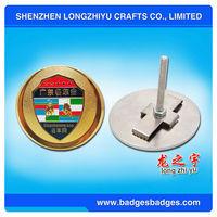 Car Badge Car Emblem Metal Badge Lamborghini Emblem/safety Lapel Pins For Famous Auto Meeting