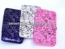 Fashion Printing Design PU Ladies Hinge Purse/Women Metal Frame Wallets/Lady Clutch Bag For USA
