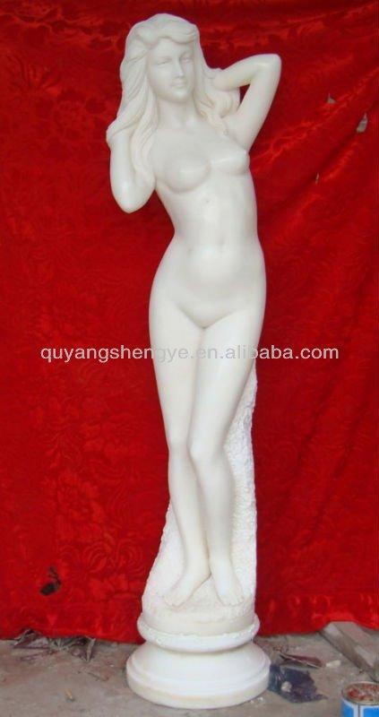 girl figure stone statue