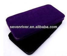 Fashion Design Pure Velutum Ladies Hinge Purse/Women Metal Frame Wallets/Lady Clutch Bag For USA