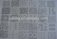 newest hot cheap 3D toe nail art sticker / NAIL Art 3D Stickers Decals