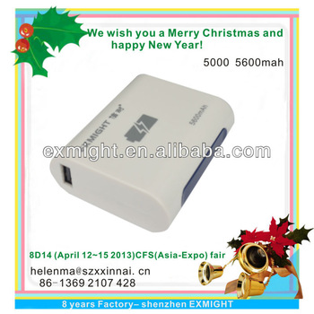 latest factory USB 5000 mAh mobile power pack