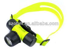 Professional Headlamp Manufaturer Magnetic Twist Switch Q5 Diving Headlamp Flashlight