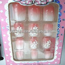 Fashion organic matte glitter nail polish false tips