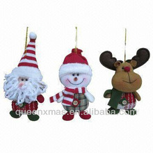 Christmas big heads santa snowman reindeer tree ornaments-perfect gifts for children