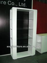AY-04M modern white high gloss glass wine bar cabinet