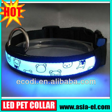 The newest ,the hottest ! high brightness Pet Dog Safety Collars LED Light-up Flashing Glow in the dark
