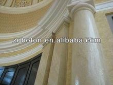 Crema marfil construction pierre colonne / pilier / border line, Naturel marbre / granit / aritificial pierre