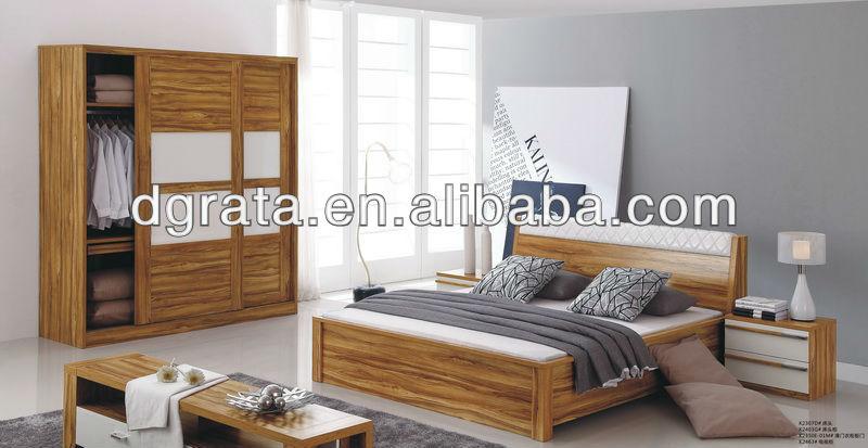 2012 dernières meubles de chambre à coucher en E1 MDF pour