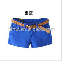 2012 KOREAN STYLE FASHION GIRL'S CANDY COLOR CASUAL SHORT PANTS