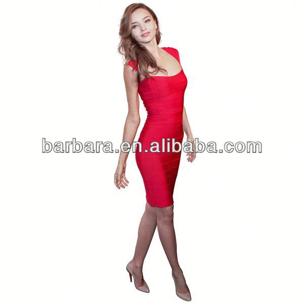 Cap sleeve fahionable new designer sexy women dress red