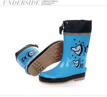 Fashion Cartoon Kids Rubber Rain Boots Protective Mouth Manufacturer