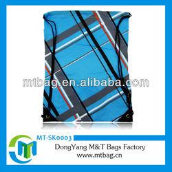 fashion polyester silk-screen printing draw string bag