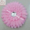 luz rosa gerbera margarida flores para o acessório do cabelo