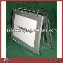 2013 Top seller Flat type acrylic desktop calander