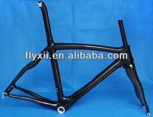 FLX-FR-308 Full Carbon 3K glossy Road Bike Frame Fork Seatpost Headset 50cm, 54cm, 56cm