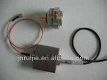 Capacitance sensor with various capacitive sensing heads to measure distance pressure temperature