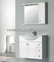 MDF bathroom cabinet,high glossy white bathroom furniture