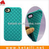 Original Design Soft Silicone Mobile Phone Cover For Iphone 4 4s 5 With Lozenge Shape