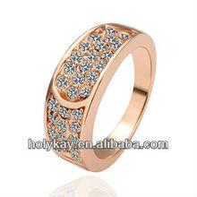 new rings! round shape transparent white diamond decorate ring