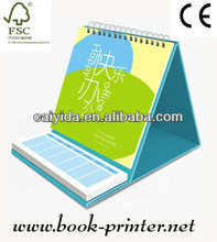 new attractive desktop calendar printing with spiral binding