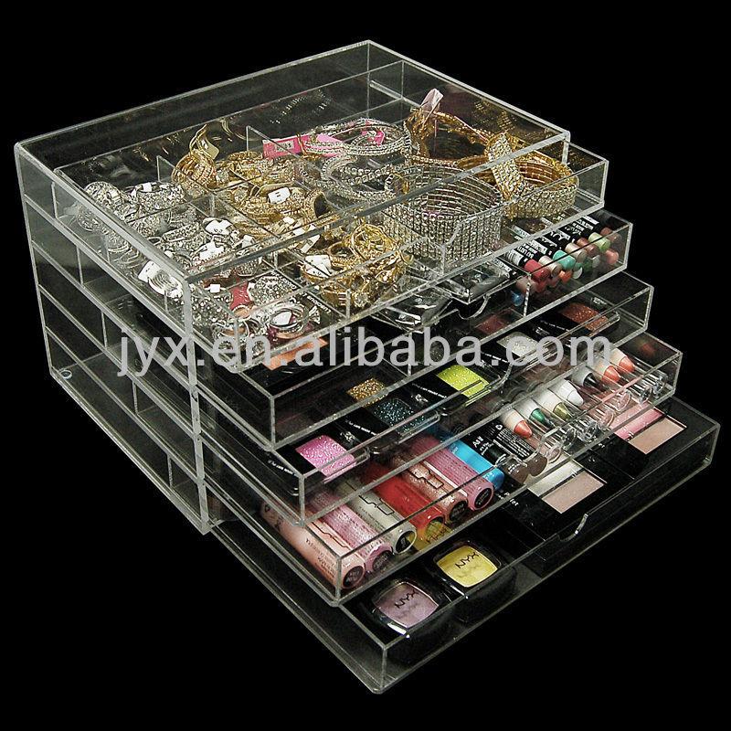 Luxueux acrylique faire avec tiroirs de rangement - Rangement maquillage acrylique ...
