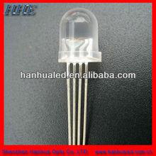 4 pins rgb led 5mm round golden manfacture