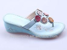 blue fancy slipper and flip flops shoe for women 2012
