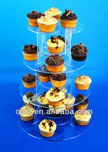 4-level acrylic bakery donut cake display stand