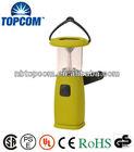 plastic 6 led solar dynamo camping lantern