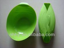 OEM FDA or LFGB silicone fish bowl silicone folding bowl