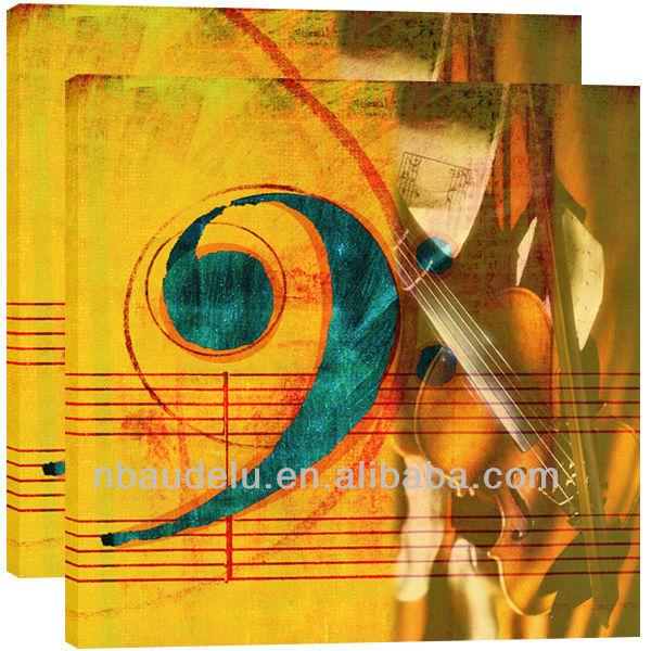 Instrument de musique peinture à l'huile