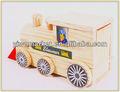pintado de madera de juguete de bricolaje piezas del tren