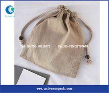 plain linen lavender bag with cotton drawstring