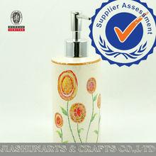 Flowers Decal Ceramic Bath Soap Dispensers
